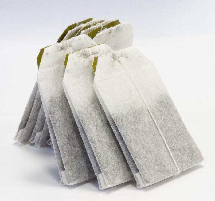 использованный чайный пакетик