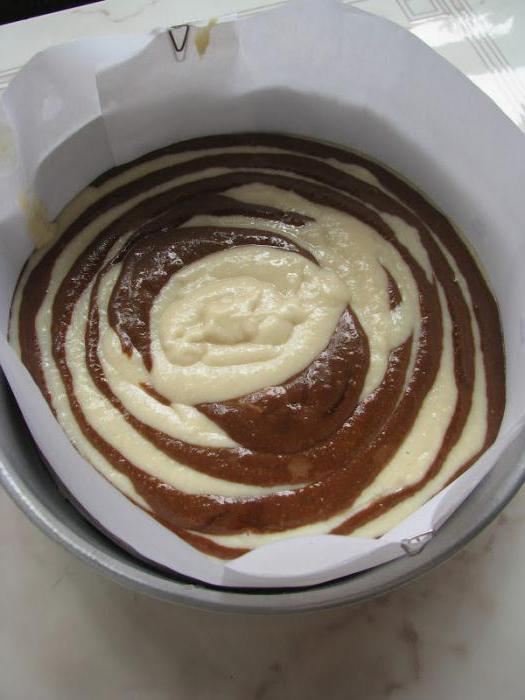зебра пирог рецепт на кефире