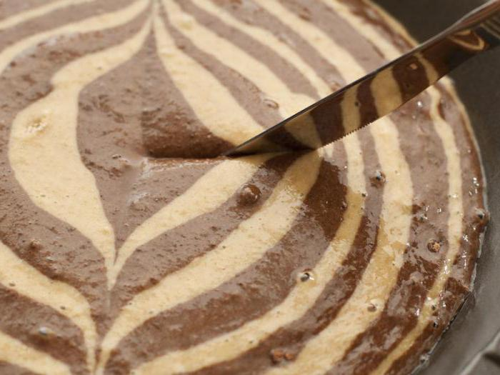 пирог зебра простой рецепт на кефире