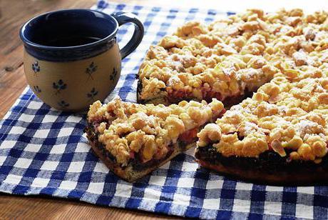 рецепт пирога со сливовым вареньем в духовке