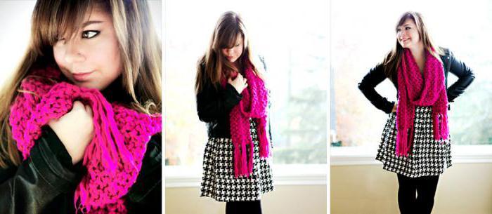 как красиво завязать теплый шарф на куртку