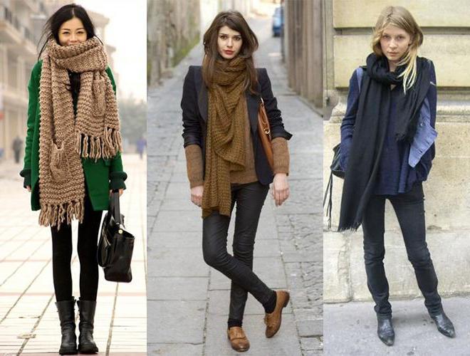 как красиво завязать шарф поверх куртки