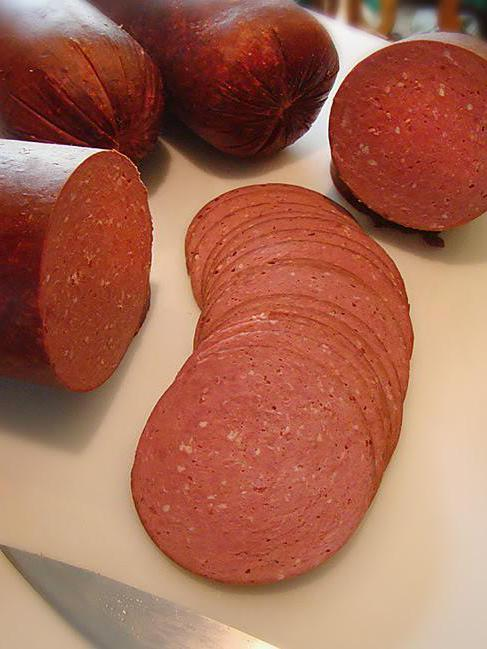 smoked sausage at home