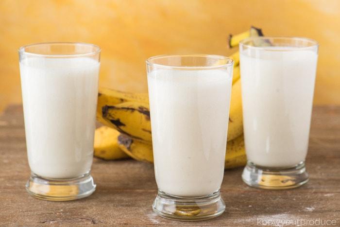 The benefits of banana and kefir