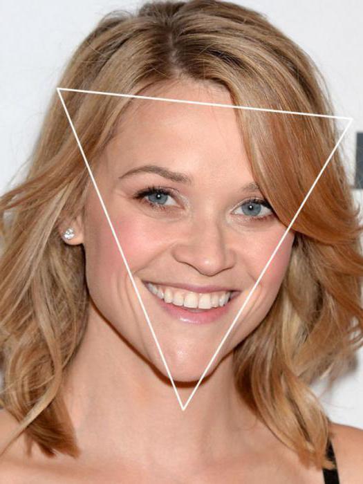 треугольная форма лица