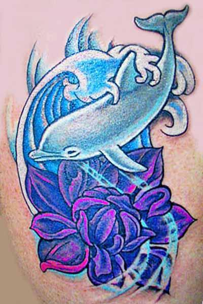 дельфин тату