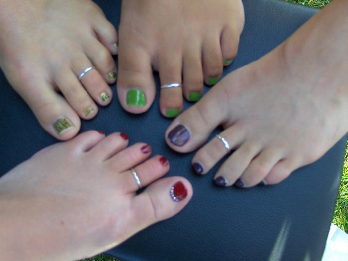 кольцо на палец ноги