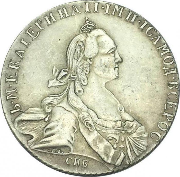 Золотые, серебряные и медные монеты Екатерины 2. Фото и ценность