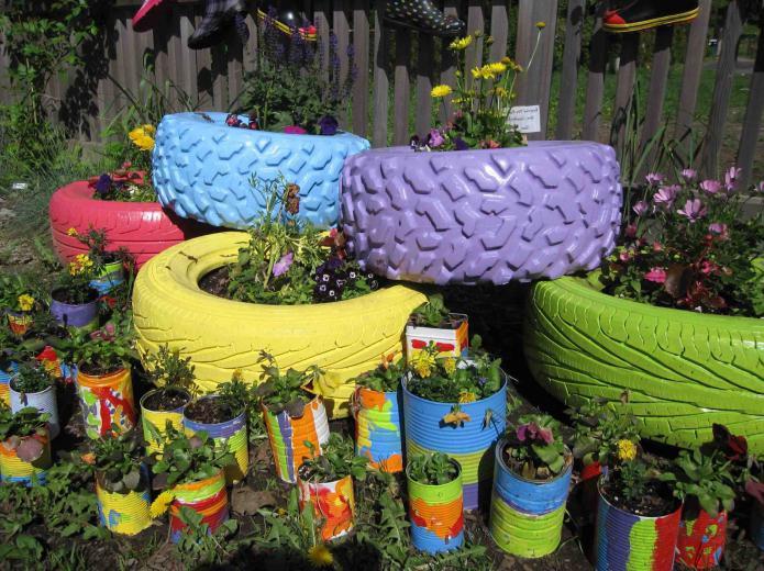 Клумбы и цветники на даче  на даче фото 169