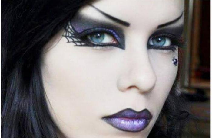 макияж готический пошагово