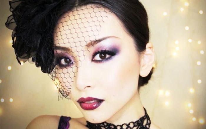 готический макияж глаз
