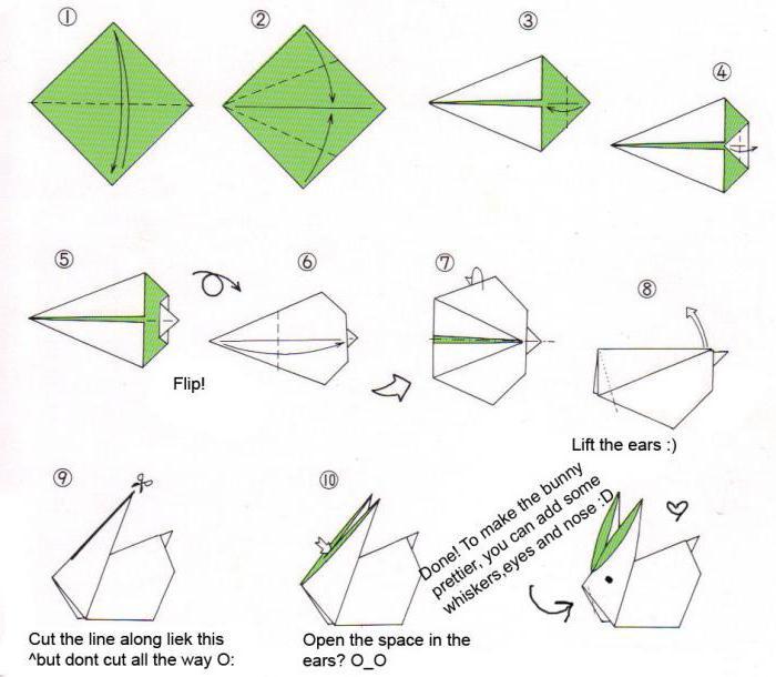 оригами из бумаги делаем животных