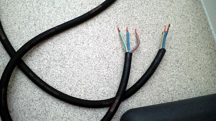 кабель для подключения электрической плиты