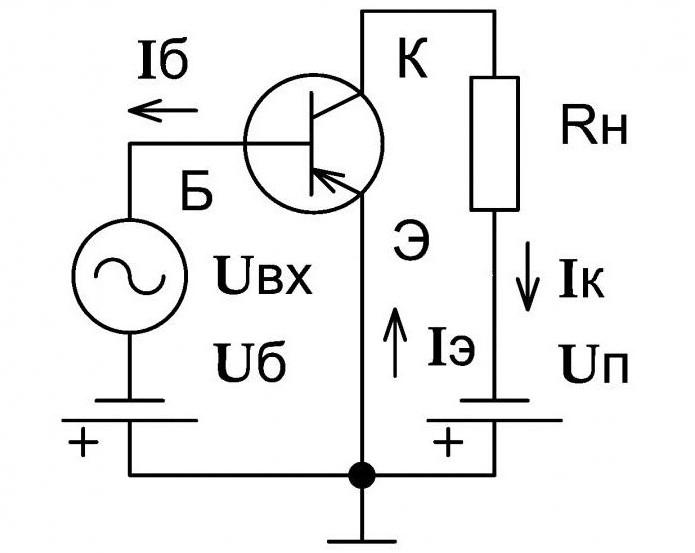 Схемы управления транзистором по постоянному току