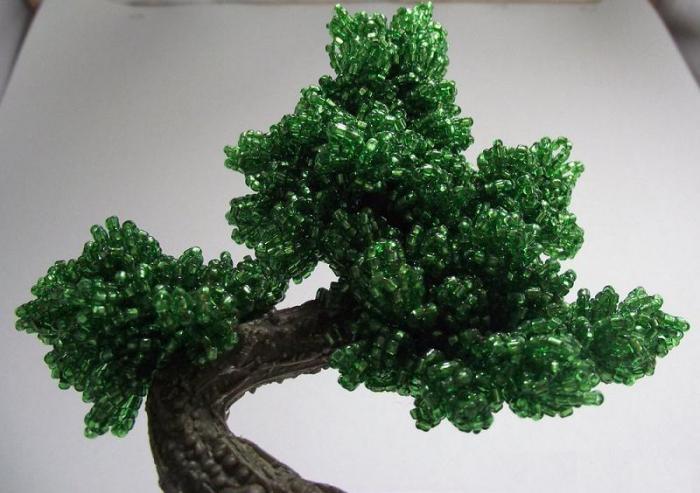 дерево из бусин мастер класс