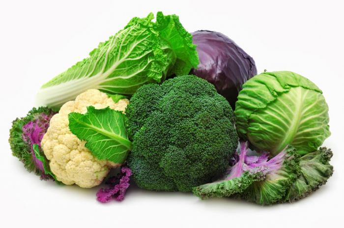 виды капустных овощей