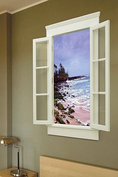 Фальш-окно с торцевой подсветкой акрила