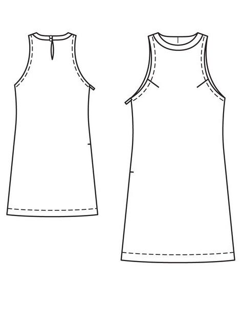 Платье о образного силуэта выкройка