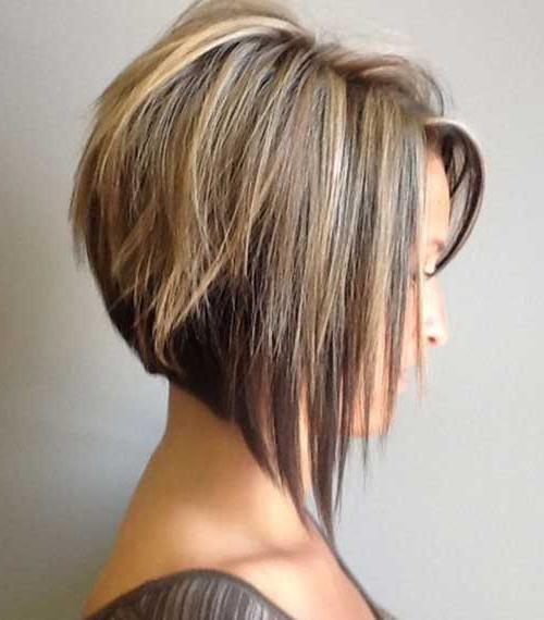 градуированная косая челка