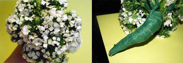 Как сделать свадебный букет из гвоздик своими руками: фото