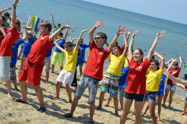 летний лагерь на море