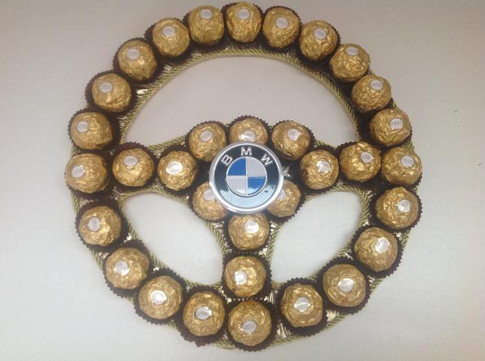мастер класс руль из конфет
