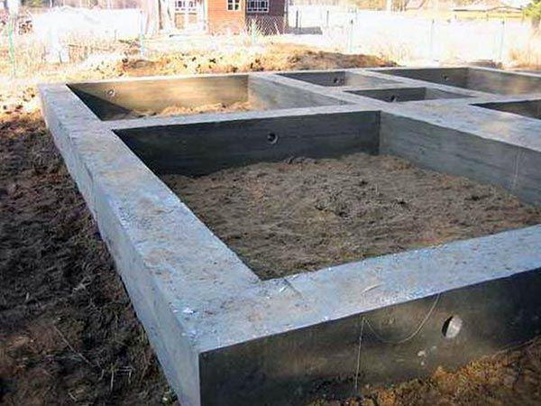 легкий фундамент для каркасного дома