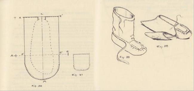выкройка тапочек из меха в натуральную величину