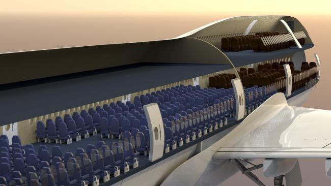 Самолет Boeing 747-400 схема