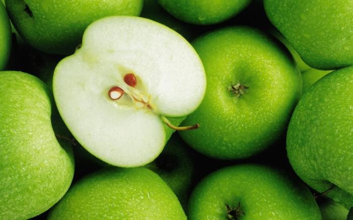 """Предпросмотр схемы вышивки  """"зеленые яблоки """". зеленые яблоки, зеленый, фрукты, в кухню,, предпросмотр."""