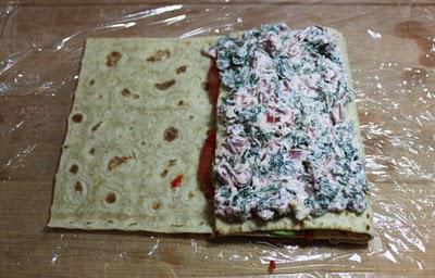 лаваш с творожным сыром