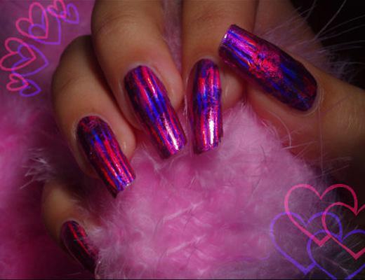 «литье» на ногтях