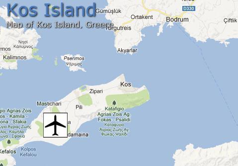 остров Кос карта