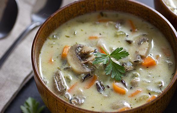 калорийность грибной суп с курицей