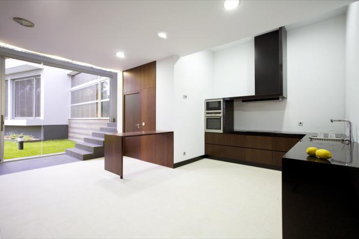 интерьер кухни стиль минимализм