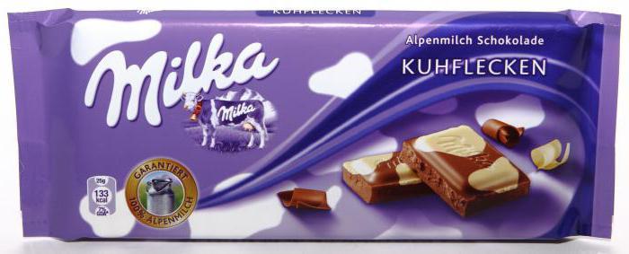 шоколад милка состав