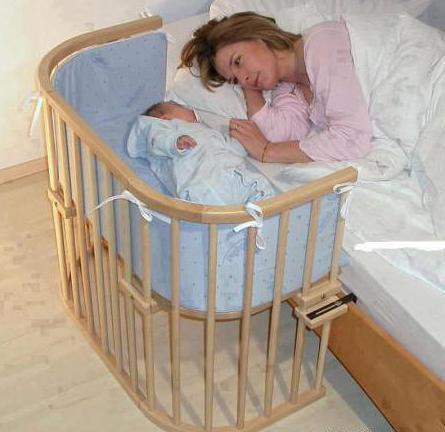 приставные детские кроватки для новорожденных