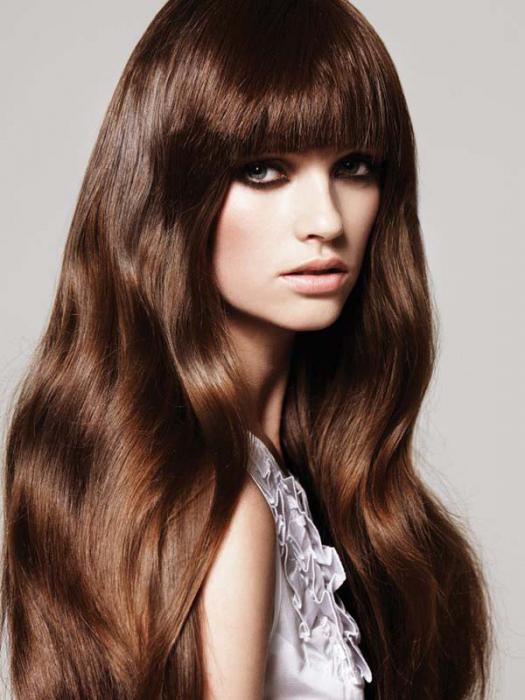 Темный каштановый цвет волос
