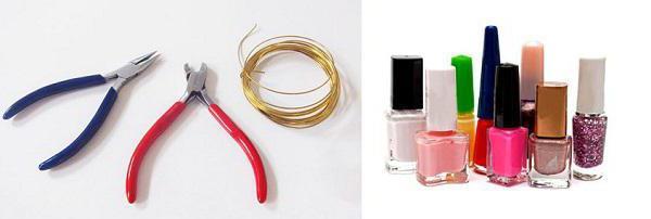 Цветочки из лака для ногтей и проволоки: мастер-класс, фото