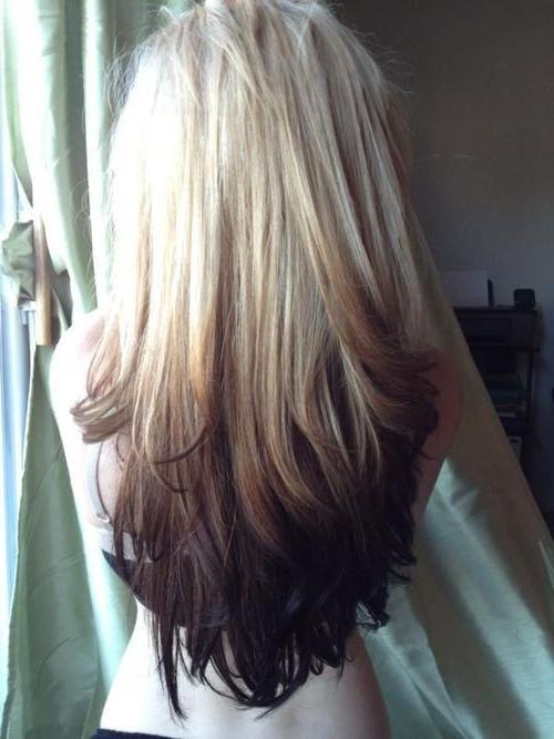 омбре на средние волосы фото для блондинок
