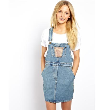 Платье комбинезон джинсовый