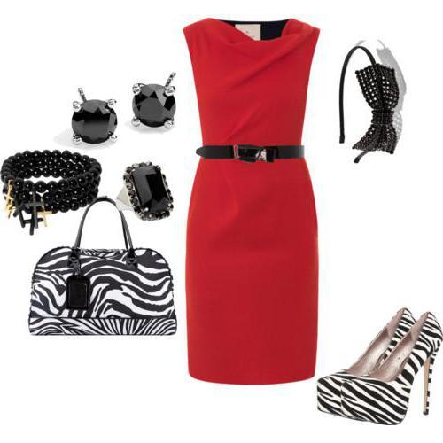 аксессуары к красному платью