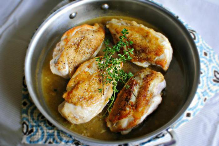 бедро индейки жареное на сковороде