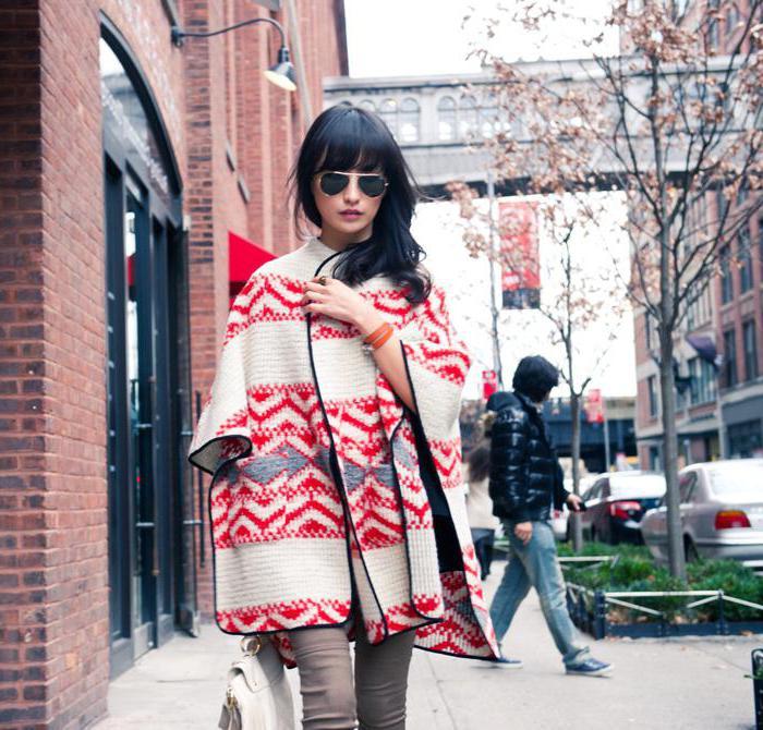 шарф пончо как носить