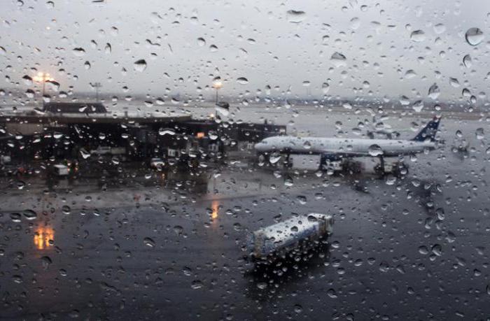 посадка самолета в дождь