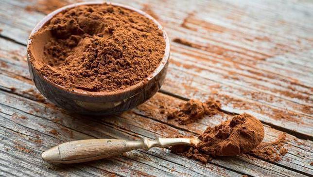 есть ли кофеин в какао порошке