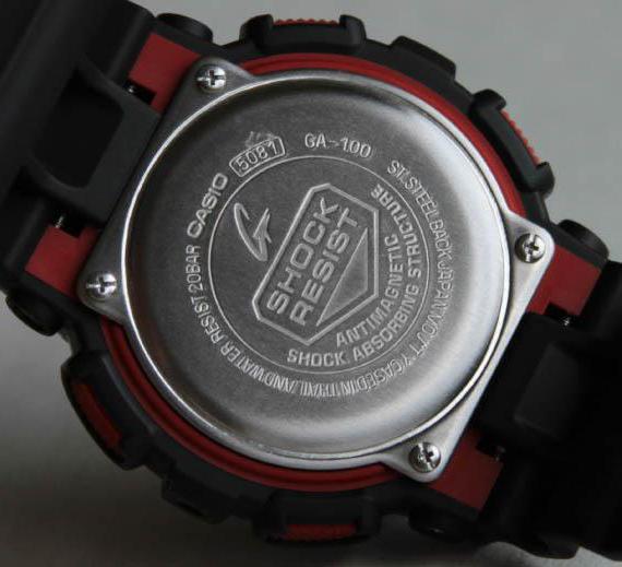 часы Casio G-SHOCK Ga 100 инструкция
