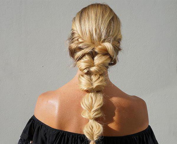объемные косы с резинками