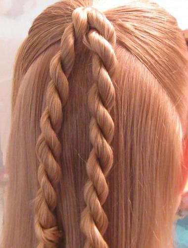 косы с резинками фото