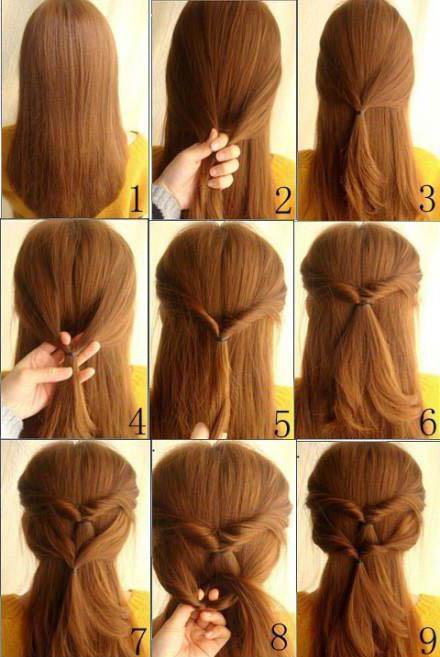 Косы на резинках на длинные волосы